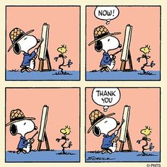 Snoopy, the artist paints Woodstock Snoopy Cartoon, Snoopy Comics, Peanuts Cartoon, Peanuts Snoopy, Peanuts Comics, Cartoon Art, Snoopy Love, Snoopy And Woodstock, Charles Shultz