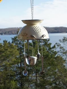 Metal Wind Chime by TheLittleRedShedLLC on Etsy