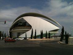 El Palau de les Arts Reina Sofía part of the Ciutat de les Arts i les Ciències in Valencia, Spain.
