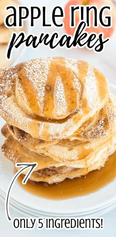 These tasty apple ring pancakes are simple, easy, and make light and fluffy pancakes. Healthy with fresh fruit, this recipe uses cinnamon and syrup with pancake batter. Can be made with Bisquick, pancake mix, or gluten-free baking mix. Topped with cinnamon Best of the breakfast recipes! #comfortfood #glutenfreerecipes #gluten-free #weeknightmeals #whatsfordinner #30minutemeals #breakfast #breakfastfordinner Breakfast For Dinner, Breakfast Recipes, Breakfast Ideas, Pancakes On A Stick, Gluten Free Baking Mix, Light And Fluffy Pancakes, Apple Rings, Cooked Apples, Brunch Dishes