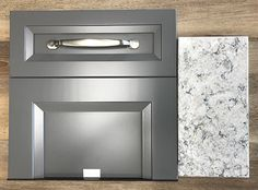 Grey Bathroom Cabinets, Dark Grey Kitchen Cabinets, Kitchen Cabinet Door Styles, Painting Kitchen Cabinets, Quartz Kitchen Countertops, Cabinets And Countertops, Expresso Cabinets, Basement Bar Designs, Cabinet Ideas