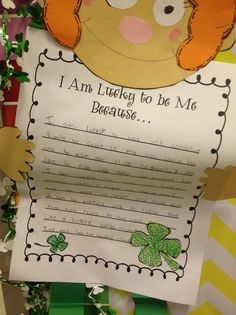 St. Patrick's Day and Spring Writing Bulletin Board Idea