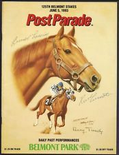 Secretariat Belmont | SECRETARIAT BELMONT STAKES PROGRAM SIGNED BY LUCIEN LAURIN TURCOTTE ...