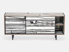 Established & Sons Wrongwoods L1500 Sideboard by Richard Woods & Sebastian Wrong - Chaplins