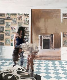 Andy Denzler's glitch art turns old home footage into hybrid works of realism and abstract expressionism. Image Painting, Figure Painting, Conceptual Design, Glitch Art, Sculpture, Contemporary Paintings, Cool Artwork, Abstract Expressionism, Oil On Canvas