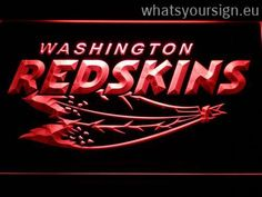 Washington Redskins 2002-2004 – Legacy Edition - LED neon light sign display made of the first-class quality clear plastic and briliant colorful LED glow. The neon sign displays exactly the same from all angles thanks to the carving with the latest 3D laser engraving technology. This LED neon sign is a great gift idea! The neon is provided with a metal chain for displaying. Available in 3 sizes in following colours: Yellow, Blue, Red, White, Purple, Green and Orange!