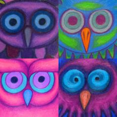 Great for my Owls in the Family novel study. Owl a day collage