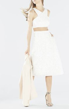 Ellyson Embroidered Lace Two-Piece Dress - BCBG