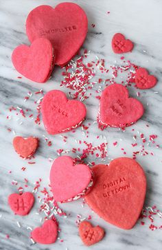 Conversation Heart Cookie Sandwich