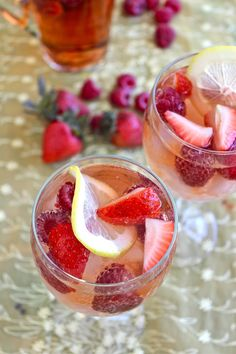 Recipe: Strawberry & Limoncello Rosé Sangria The 10-Minute Happy Hour