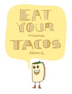 Haha.. illustration meets taco.
