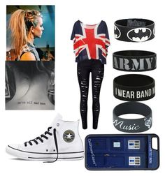 """""""untitled"""" by arayna03 ❤ liked on Polyvore featuring Converse and CellPowerCases"""