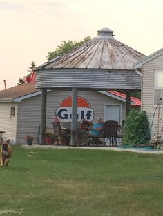 Gazebo made from a silo! Cool!