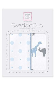 Swaddle Designs 'Swaddle Duo' Receiving & Swaddling Blankets available at #Nordstrom