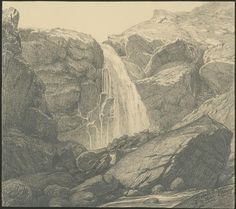 Gustave Doré | Cascade du trou de l'Enfer dans la vallée du Lys (Luchon) | Images d'Art