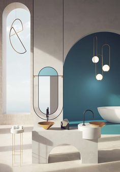 Salon Interior Design, Colorful Interior Design, Wall Design, House Design, Clinic Design, Bathroom Design Luxury, Aesthetic Rooms, Interiores Design, Interior Inspiration