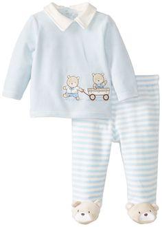 Amazon.com: Little Me Baby-Boys Newborn Bears Velour Pant Set: Clothing
