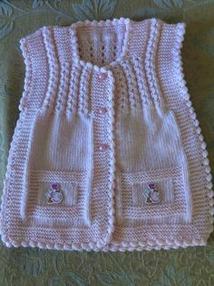 Discover thousands of images about Baby Knitting, Crochet Baby, Knit Crochet, Knit Vest, Baby Dress, Mom, Sweaters, Dresses, Design