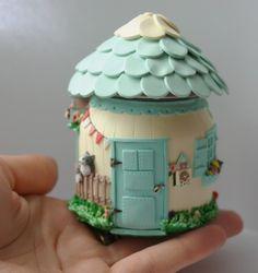 polymer clay fairy house http://www.pinterest.com/dhminis/fairys/