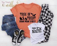 Trick or Treat Down Main Street Disney Shirt - Disney Halloween Shirt ~ Disney Not so Scary Tee ~ Disney Trip shirt ~ Disney Halloween by TheTiltedWillowShop on Etsy