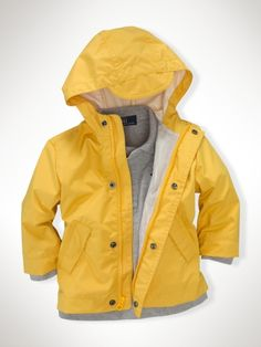toddler boy raincoats yellow