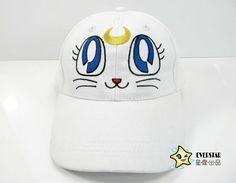 Aliexpress.com: Comprar Cartoon Anime Sailor Moon Luna Blanco/Púrpura Precioso Gato Ajustable Snap Back Snapback Gorra de Béisbol Ocasional Del Sombrero de Los Niños muñeca Sombrero de sombrero de canales fiable proveedores en Bechan Toy store