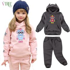 16.90$  Watch here - http://ali40c.shopchina.info/go.php?t=32256735770 - V-TREE Children's velvet clothing set 2016 winter tracksuit for girls boys sports suit roupas infantis menino clothes sets  #aliexpress