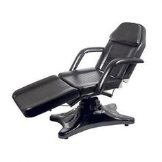 Hydraulic Facial Beauty Chair / All Black - This elegantly styled upscale white facial bed has thick foam foot, seat and back rest cushions covered with an easy-to-keep-clean and comfortable white PVC vinyl material for years of durability. The facial bed Salon Styling Stations, Beauty Chair, Home Beauty Salon, Face Cut Out, Nail Salon Furniture, Beauty Salon Equipment, Massage Bed, Spa Chair, All Black