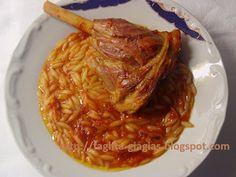 Τα φαγητά της γιαγιάς - Αρνί γιουβέτσι Greece Food, Greek Beauty, Greek Recipes, Lamb, Cabbage, Oven, Pork, Cooking Recipes, Meat