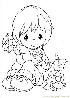 Precious Moments Coloring Pages | Coloring Pages Precious Moments 13 (Cartoons > precious moments ...