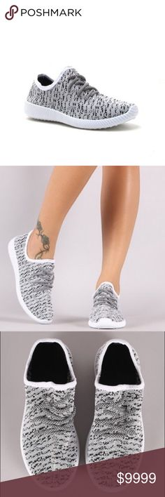 🔜 Comment To Reserve Yours These sneakers feature a flyknit design with specs and a lace up front. Cushioned arch heel area. No trades. No lowball offers. Price will be $39. Please comment with the size you want to reserve 😊 Shoes