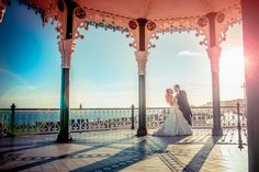 Sunset at Brighton Bandstand. Brighton wedding photography by Carl Thomson - www.ctphoto.co.uk 07794 271 592