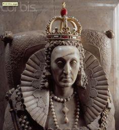 Queen Elizabeth I's tomb, Westminster Abbey.: