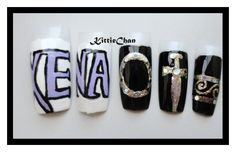 Xena: The warrior princess nail art