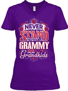 GRAMMY AND HER GRANDKIDS ~ V-Neck And Women's Tees