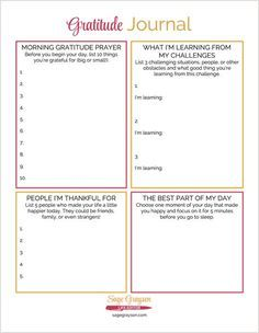 This free printable gratitude journal is an easy way to start your own gratitude habit.