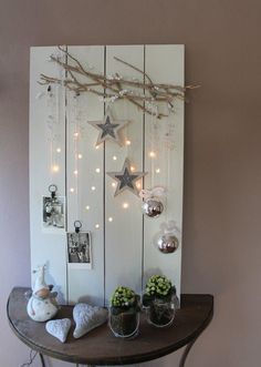 drill holes for the lights- great idea ♥