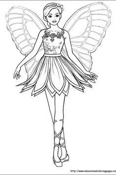 Fairy | Educational Fun Kids Coloring Pages and Preschool Skills Worksheets
