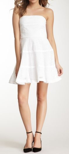 White flounce dress-love this! Just wish it were a little longer...