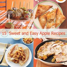 15 sweet and easy apple recipes - perfect for fall!