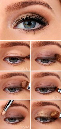 Golden smoky eye