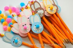 Bunny Pencil Toppers