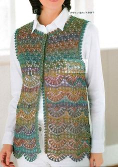 A Crochet Vest: Accentuating Your Ordinary Outfits With crochet sweaters: crochet vest pattern - classy dyxkeoi Crochet Waistcoat, Crochet Jacket, Crochet Cardigan, Crochet Shawl, Knit Crochet, Crochet Sweaters, Crochet Baby, Crochet Vests, Knit Vest