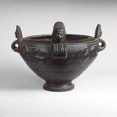Terracotta bowl with lid Period: Archaic Date: late 6th century B.C. Culture: Etruscan Medium: Terracotta