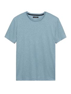 Shop Banana Republic s Luxury-Touch Crew-Neck T-Shirt  Luxury-touch cotton  offers a soft feel and reliably polished presentation. f1bc5739a61