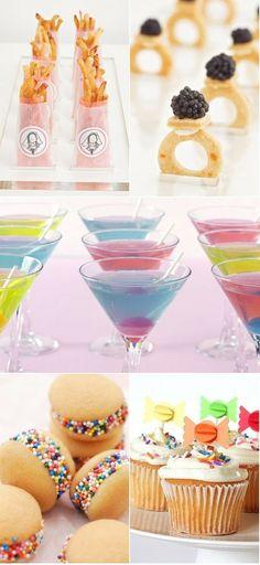 Fun ideas for wedding shower/bachelorette party snacks