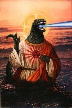 Do you have a moment to talk about our lord and savior GODzilla Godzilla Wallpaper, Godzilla Tattoo, Godzilla Godzilla, Pseudo Science, Star Wars, Arte Horror, Arte Pop, Cursed Images, King Kong