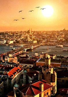 bosphorus #sunset-ISTANBUL