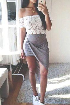 Lovely grey asymmetrical dress <3