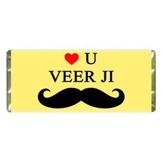 Personalised My Veer Ji Chocolate Raksha Bandhan Gifts, Rakhi Gifts, Online Gifts, Projects To Try, Just For You, Chocolate, Logos, Logo, Chocolates
